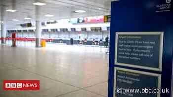Coronavirus: Airports quiet for 'holiday season'