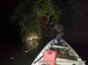 Dois pescadores são surpreendidos fazendo arrastão com redes no rio Miranda - Bonito Notícias