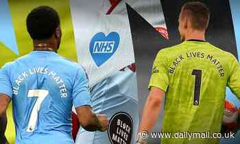 How the NHS and BLM badges on Premier League shirts are made using high-tech lasers