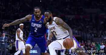 NBA: Termine zum Restart fix - Lakers mit LeBron James und Clippers mit Leonard - SPORT1
