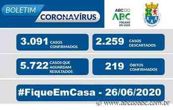 NOTA OFICIAL CORONAVÍRUS - Prefeitura de Diadema - 26/6 - ABCdoABC