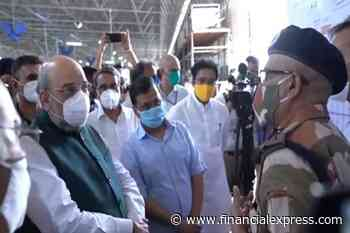 Delhi: Amit Shah, Arvind Kejriwal visit biggest COVID care center with 10,000 bed capacity