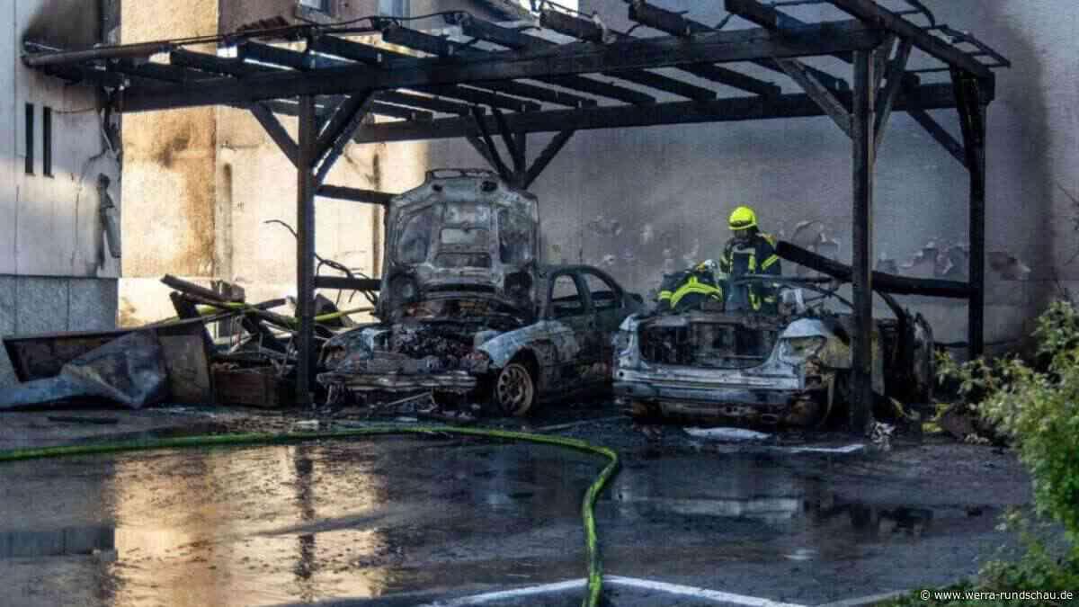 Limburg-Weilburg: Brand in Bad Camberg - Feuer bricht in Carport aus | Hessen - werra-rundschau.de