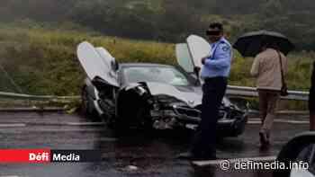 Terre Rouge-Verdun : Une rare BMW i8 accidentée - Le Defi Media Group