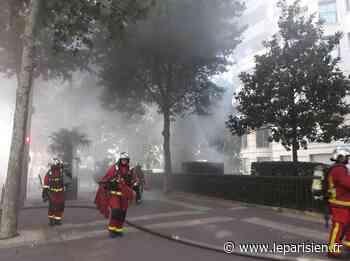 Levallois-Perret : un feu de parking paralyse la porte de Courcelles - Le Parisien