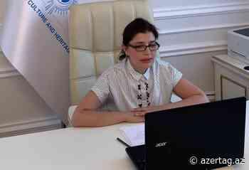 Presidenta de la Fundación Internacional para la Cultura y el Patrimonio Turcos habló en la videoconferencia internacional - AZERTAC Espanol