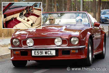 David Beckham's vintage Aston Martin V8 Volante he drove Posh Spice in for sale on AutoTrader for £445,000 - The Sun