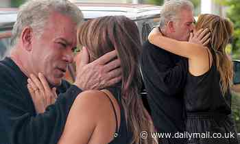 Ray Liotta, 65, passionately kisses his girlfriend Jacy Nittolo, 45, at gas station