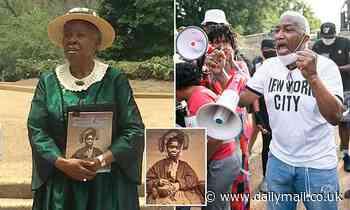 Reenactor of freed slave Charlotte Scott defends Lincoln Emancipation statue
