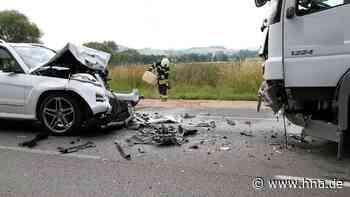 65-Jähriger bei Frontalzusammenstoß auf der B 3 schwer verletzt - HNA.de