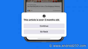 Facebook met en garde les utilisateurs qui tentent de publier d'anciennes nouvelles sur le flux - Android 237
