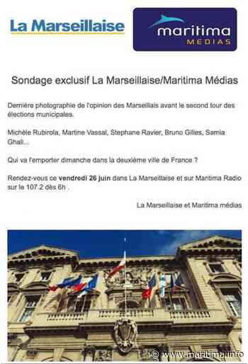 Marseille - Municipales 2020 - Maritima et la Marseillaise vont publier un sondage sur les municipales à Marseille vendredi - Maritima.Info - Maritima.info