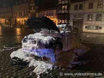 Auto brennt in Quedlinburg ab - Volksstimme