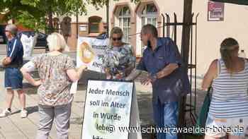 Horb a. N.: Wenig Besucher bei Mahnwache gegen Altersarmut - Schwarzwälder Bote