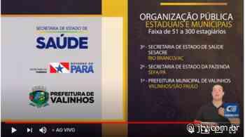 CIEE elege projeto de estágio da Prefeitura de Valinhos como o melhor do País - JTV Online