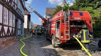 Scheunenbrand löste Großeinsatz der Feuerwehr in Wolfhagen aus - HNA.de