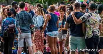 Police disperse unofficial Pride gathering as hundreds enjoy sunshine drinks