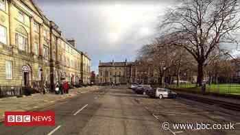 Edinburgh police investigate offensive 'Hitler' banner