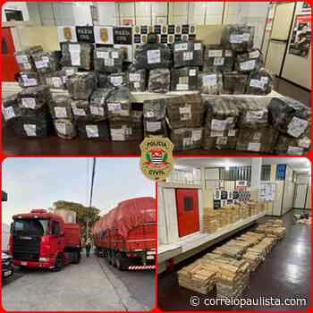 Polícia encontra em Jandira caminhão com 1 tonelada de maconha - Correio Paulista