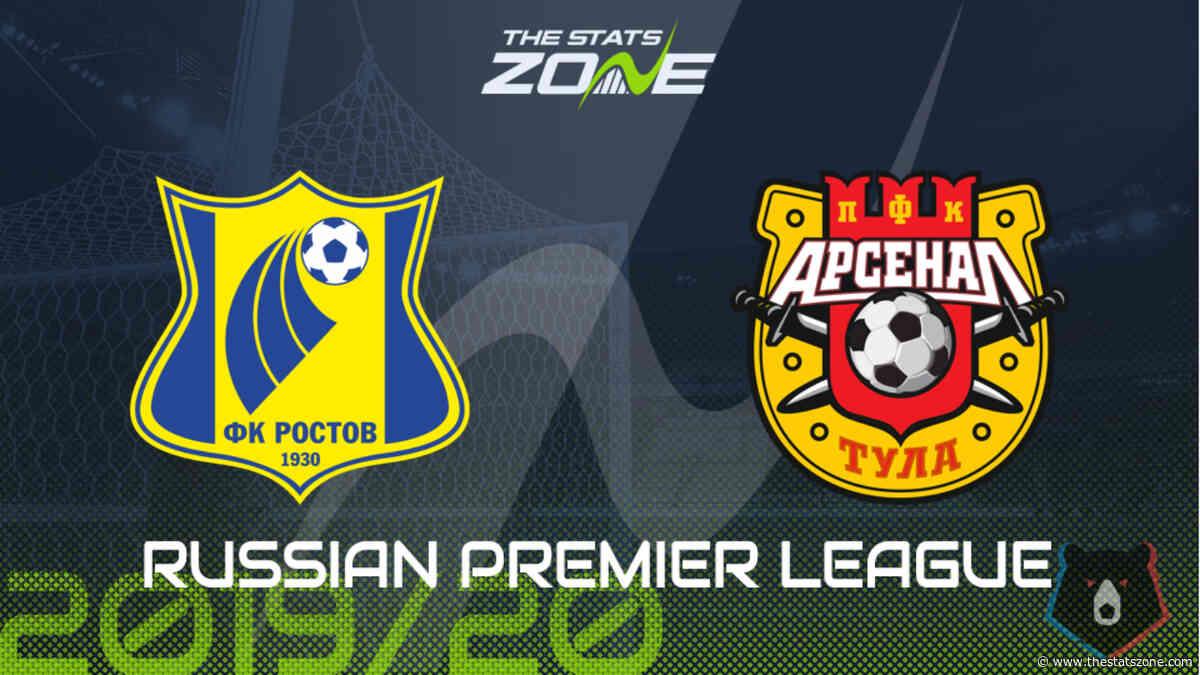2019-20 Russian Premier League – Rostov vs Arsenal Tula Preview & Prediction - The Stats Zone