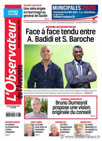 L'Observateur de l'Avesnois (édition Avesnes-sur-Helpe) du vendredi 26 juin 2020 - L'Observateur