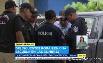 Nacionales Delincuentes roban en colegio de La Cabima - TVN Panamá