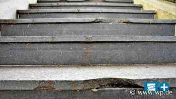 Medebach: Ärger – 65.000 Euro teure Treppe schon ramponiert - Westfalenpost