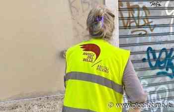 Ascoli Piceno, Angeli del Bello ancora all'opera. Cancellate scritte da Rua del Cassero - picenotime