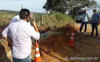 Obras no bairro de Cruz das Almas em Biritiba Mirim - Diário do Estado de S. Paulo