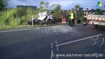 Auf der B57 bei Baesweiler: Junger Autofahrer stirbt bei Frontalzusammenstoß mit Lkw - Aachener Zeitung
