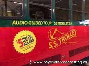 Saugeen Shores SS Trolley Parked This Summer News Centre - Bayshore Broadcasting News Centre