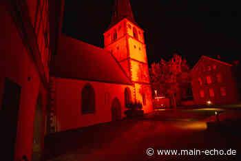 Bauwerke im Kreis Miltenberg leuchten auf Alarmstufe »Rot« - Main-Echo