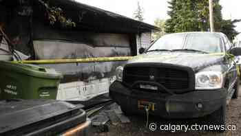 Southeast Calgary garage gutted amid explosive fire early Saturday - CTV News