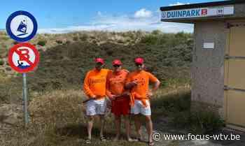 Koksijde Vooruit voert ludieke actie tegen schrappen zwemzone Duinpark - Focus en WTV