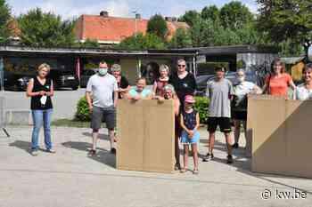 Harelbeekse kinderen kunnen in kartonnen tent in eigen tuin kamperen
