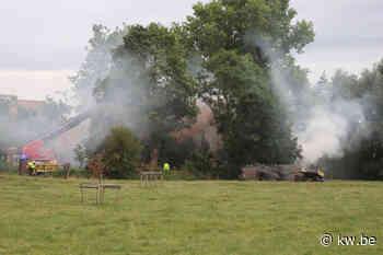 Anzegem: houtvoorraad vat vuur in schuur