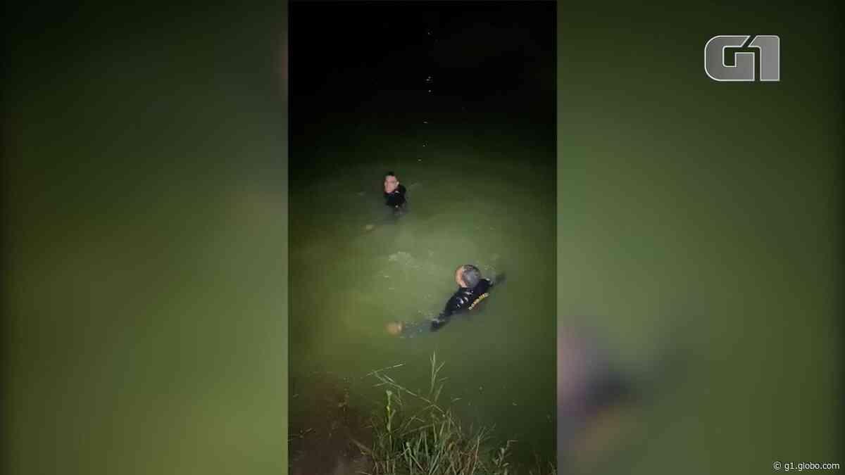 Bombeiros resgatam homem de 50 anos em açude na cidade de Vespasiano, na Grande BH; VÍDEO - G1