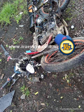 Grave motociclista que se estrelló contra un camión estacionado en Acoyapa, Chontales - La Nueva Radio YA