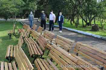 Área de Lazer Pérola do Vale de Arroio do Meio recebe novo playground, bancos e iluminação - independente