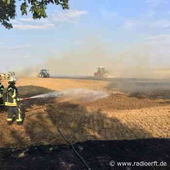 Wesseling/Bergheim: Mähdrescher und Felder brennen ab - radioerft.de