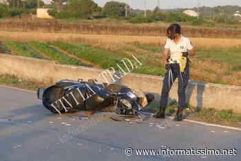 Putignano – Scontro auto – moto su Via Gioia: 1 ferito - Putignano Informatissimo