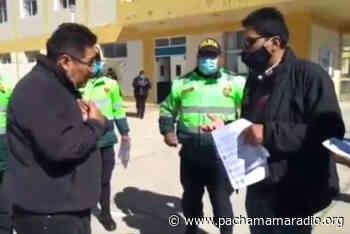 Trabajadores del Hospital San Juan de Dios de Ayaviri realizaron un plantón pidiendo la destitución del fiscal provincial - Pachamama radio 850 AM