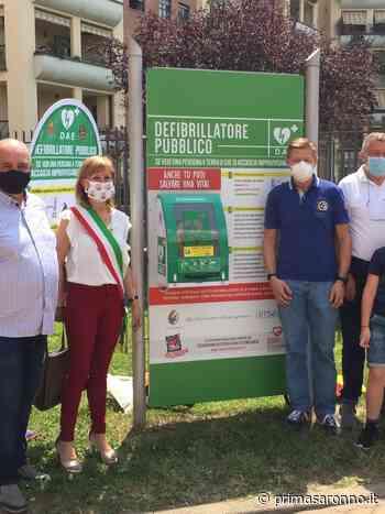Inaugurato un defibrillatore in via don Testori - Prima Saronno