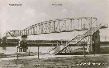 Recycling in den 1920er Jahren: Neckarsteg erhält seine heutige Stelle - Heilbronner Stimme