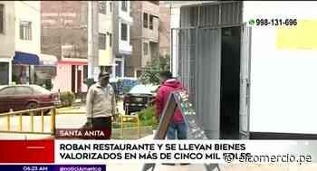 Santa Anita: delincuentes se llevan bienes valorizados en 5 mil soles de restaurante - El Comercio Perú