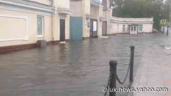 Streets of Vladivostok flooded after heavy rains in Russia - Yahoo Weather UK