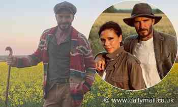 David Beckham shares wholesome snap of him hiking in multicolour knitwear