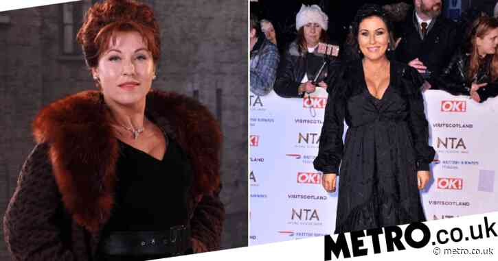 How long has Jessie Wallace played Kat Slater and how old is she as The Road to Coronation Street re-airs?