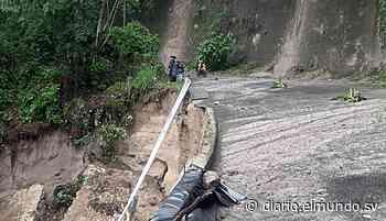 Derrumbe en calle hacia Apulo a punto de incomunicar a 25 comunidades del Lago de Ilopango - Diario El Mundo