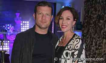 Dermot O'Leary and wife Dee Koppang leave hospital with newborn son